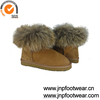 2015 7031 Winter sheepskin ankle boots with real racoon fur collar