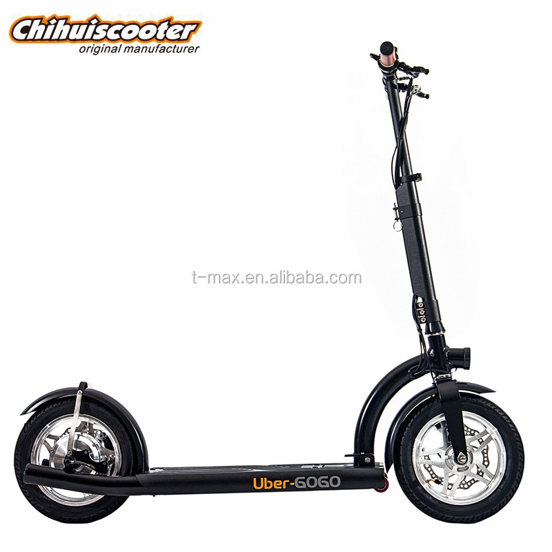 12 inch wheel brushless gear motor 36v 300w lithium battery foldable electric scooter