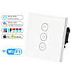 2019 New Wifi Smart Wall Touch Light Dimmer Switch EU/UK Standard APP Remote Control Works with Amazon Alexa and Google Home