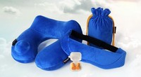 funny self inflate air filled inflatable travel neck pillow