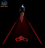 New Design Outdoor Cycling Safety Bicycle Rear Lamp Laser Bike Tail light
