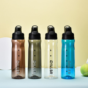 500ml 600ml 750ml transparent clear plastic sport drink water bottle