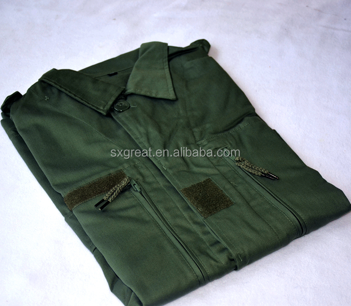high quality Polyester/Cotton green italian military uniforms sell used