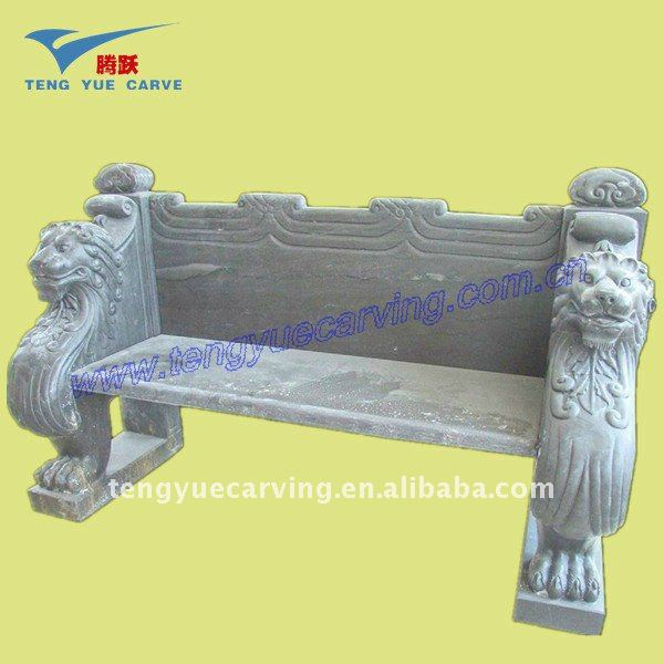 Chinese Carved Stone Bench
