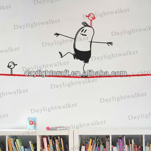 vinyl rope walking wally removable wall sticker