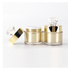 cosmetic packaging 5g 15g 30g 50g gold shiny luxury cosmetic jar cream container acrylic jar with crystal cap