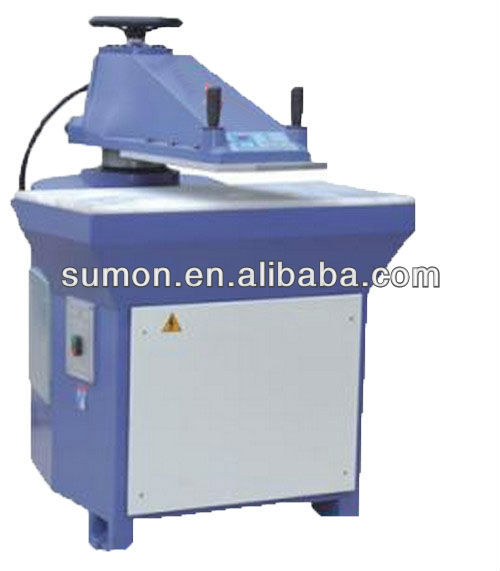 10T hydraulic swing arm leather clicking machine