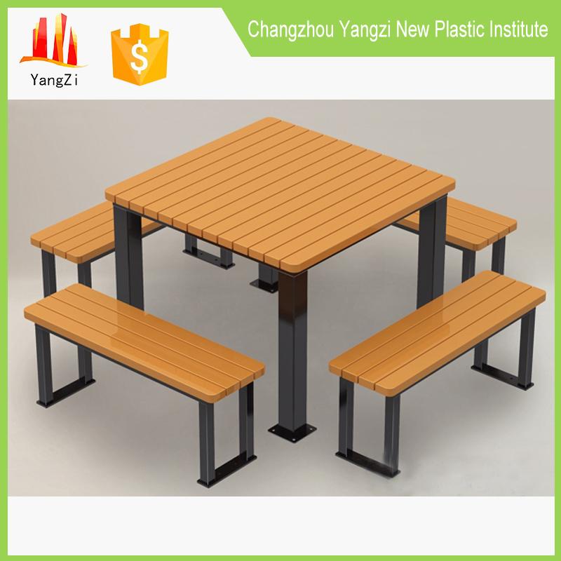 reciclado de madera mesa de comedor al aire libre