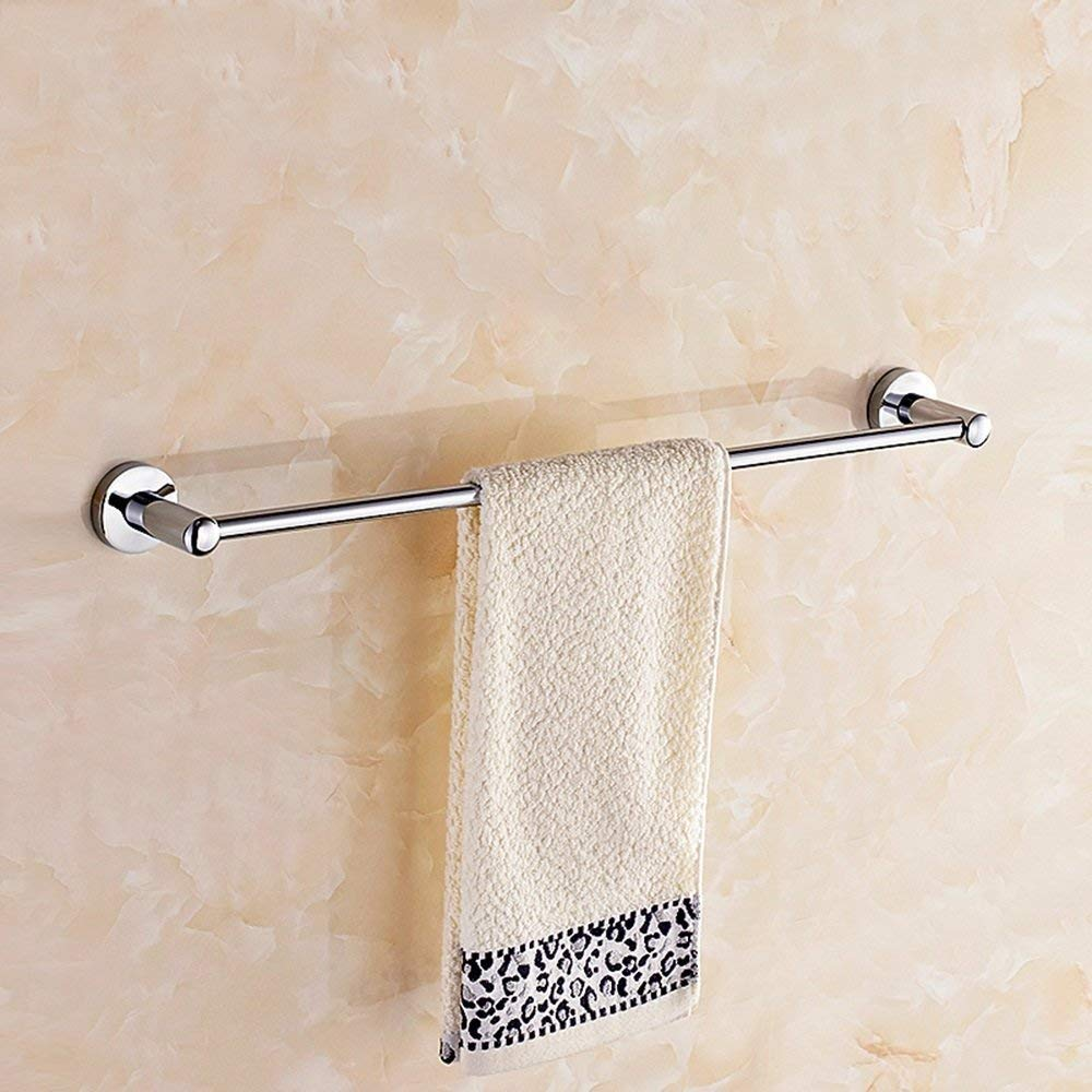 EQEQ Towel Holder Copper Single Rod/Wc Toilet Single Layer Towel Holder Enlarged Bath Rooms Bath Rooms/Rack/Towel Rail/Towel Towel Towel Rail Single Rod/(Size: 60 cm).