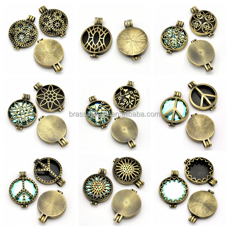 Different Beautiful Designs High Quality Hollow Cage Metal Filigree Locket Pendant