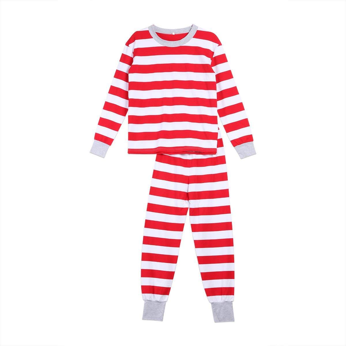 d1bd765c09 Tianve Christmas Pajamas - Family Matching Christmas Striped Pajamas Sets  Dad Mom Kids Baby Sleepwear Outfits