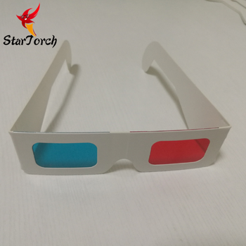 high quality cheapest wholesale disposable anaglyphic paper red cyan blue 3d glasses with custom logo