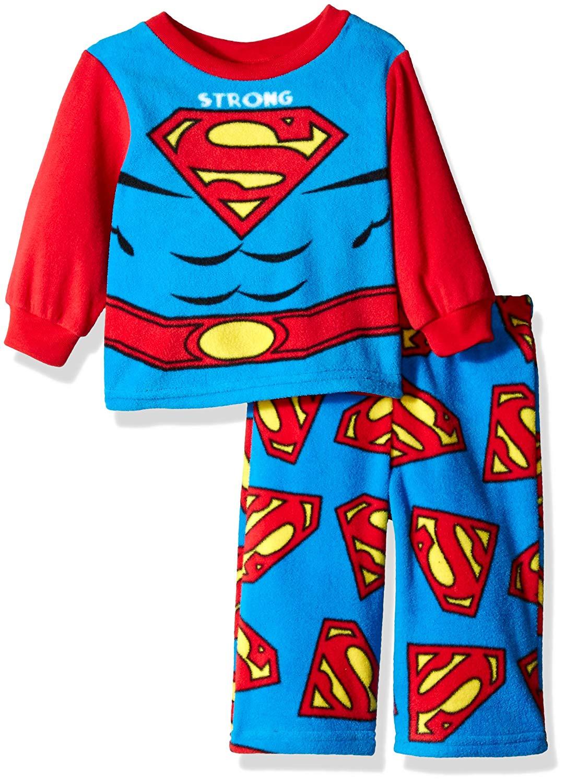 Get Quotations · DC Comics Boys  Superman 2-Piece Fleece Pajama Set 09dda3799