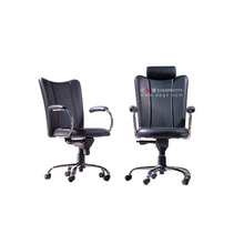 Cheap Rolling Black Reception Office Chairs with Neck Support,Office Chair with Armrest