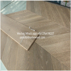 Factory prices 14mm white oak engineered wood/timber herringbone parquet floor