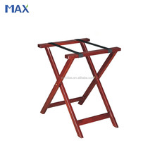 hotel luggage Rack folding wood tray stand