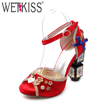 Factory Supply Classic Trends Buckle Strap Sexy Peep Toe Wedding Bridal Sandals Luxury Pleuche Ladies High Heel Fancy Sandals