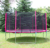 Wholesale round 10ft gymnastic bungee jumping trampoline with safety enclosure