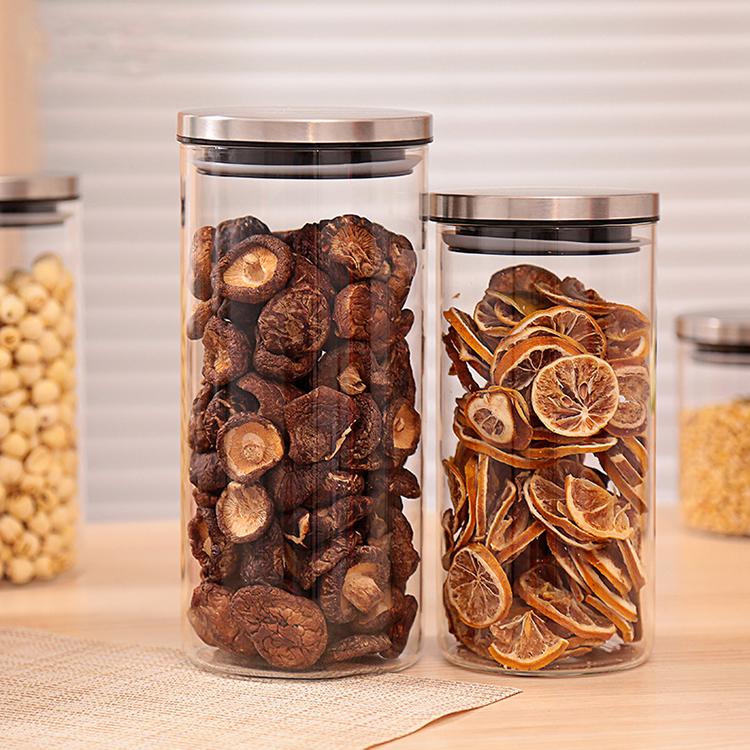 Popular Handmade Kitchen Decor Glass Containers Tubular Glass