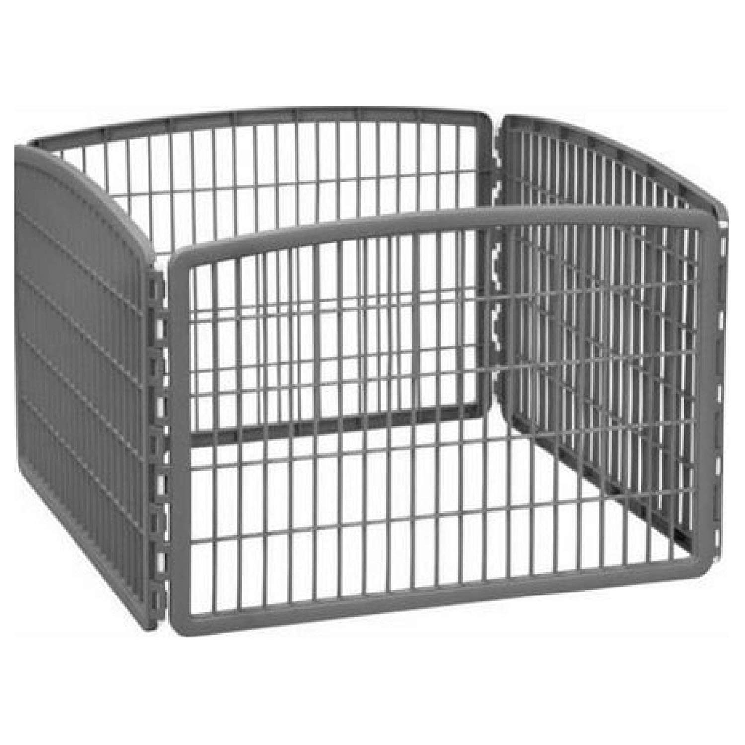 IRIS 24'' Exercise 4-Panel Pet Playpen Without Door - Dark Gray