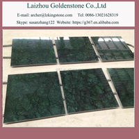 Big flower green marble table tops stone worktops for kitchen stone tiles
