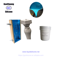 High quality liquid silicone for concrete decorative statues molds making