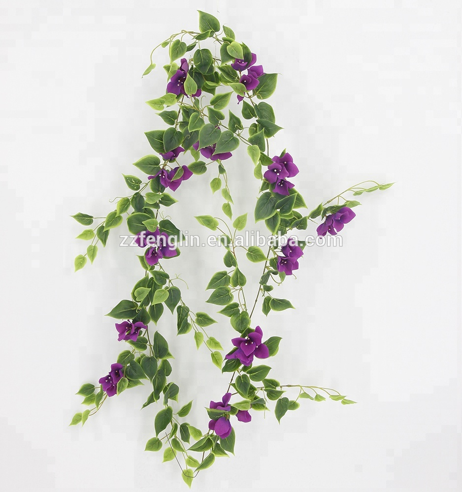 New Designed Silk Flower Garland Wholesale Artificial Bougainvillea