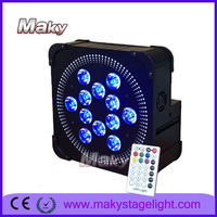 Mq- g115a 12pcs 6in1 wireless dmx&battery &IRC par rgbwap recessed wireless led wedding uplights