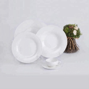 Portuguese white color oriental dinner set exclusive ceramic chinese dinnerware