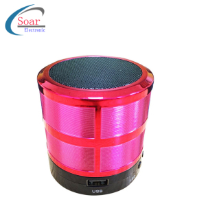 Fabrica de Parlantes en China Speakers Audio System Sound Wholesale Mini Electroplating Portable Speaker Blue Tooth With TF Card