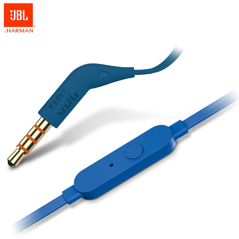 Original JBL T110 Wried In-Ear Sports Earphones Flat Cable In Ear Handsfree PureBass HiFi JBL Headphone with Mic фото
