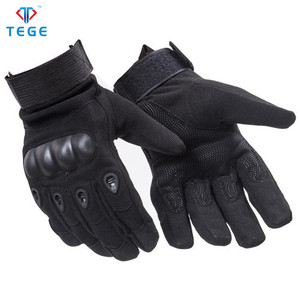 Functional single layer full finger military police training nylon tactical gloves