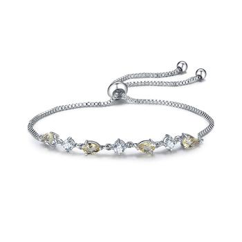 White Gold Plated Women Bracelet Adjule Slider Pull String Bracelets For Friendship Bangles Product On