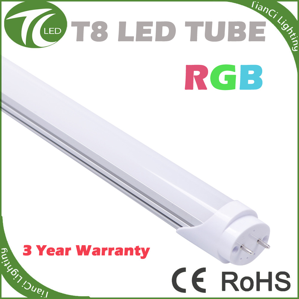 Latest new design 9w 600mm dimmable rgb t8 led tube