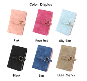 20 Card Slots Matte Pu Leather Women Fashion Candy Color Credit Card Wallet Women Business Card Holder