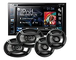 """Pioneer AVH-X2800BS Double Din 6.2"""" Touchscreen DVD CD Receiver with one pair of TS-165P 6.5"""" and one pair of TS-695P 6x9"""" Car Speakers with a FREE SOTS Air Freshener"""