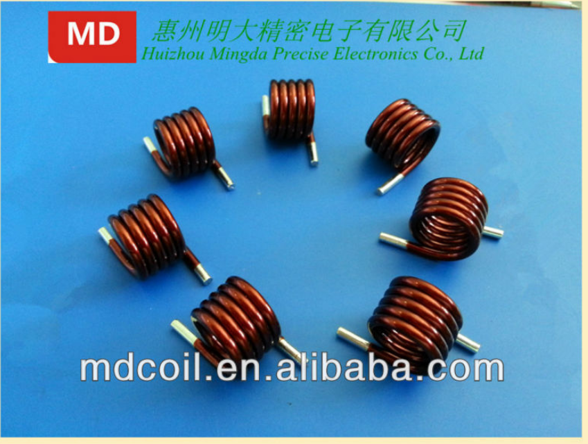 Enameled Copper Flat Wire Coil Inductor / Air Core Inductor Coils ...