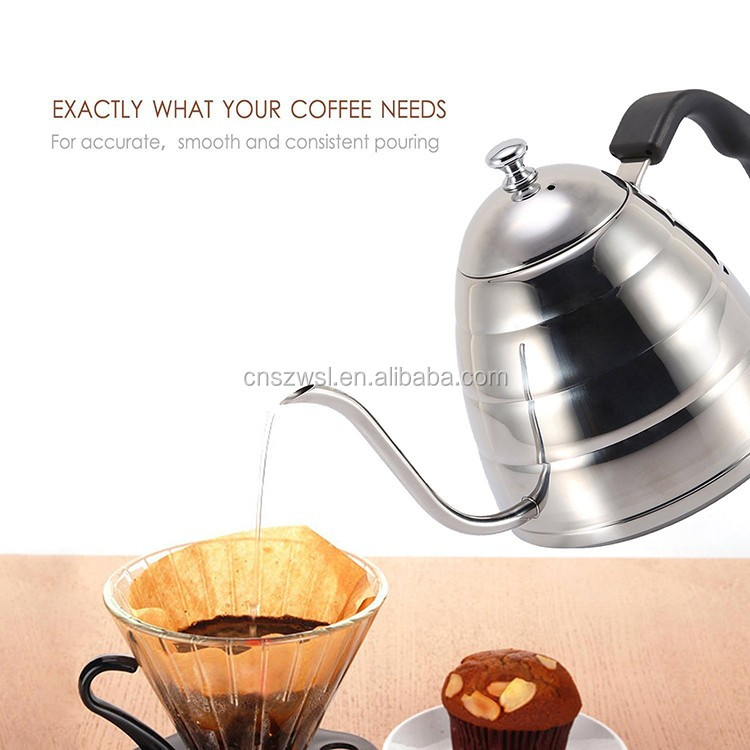 Coffee Drip Kettle pot with Thermometer gooseneck spout Kettle for Barista Drip Pot
