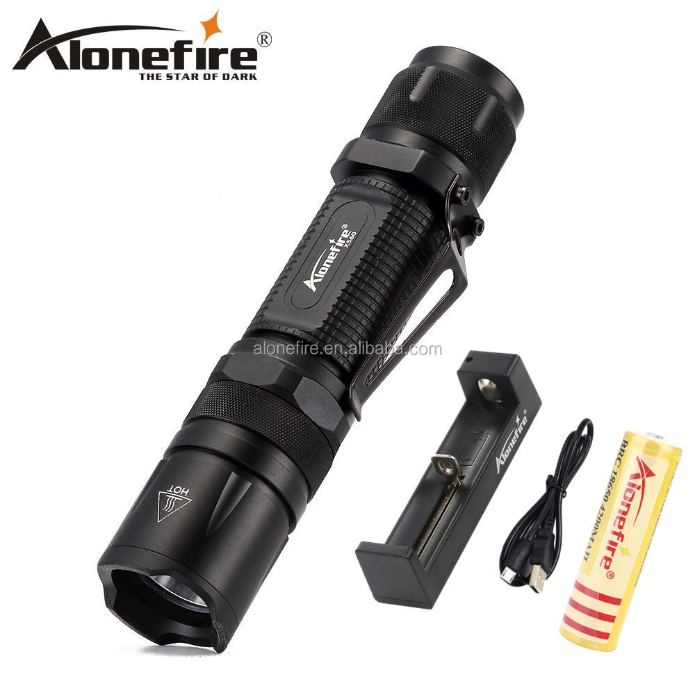 AloneFire X560 Powerful Tactical LED Flashlight <strong>CREE</strong> <strong>CREE</strong> V6 Waterproof Torch flash lights for 18650 Rechargeable battery