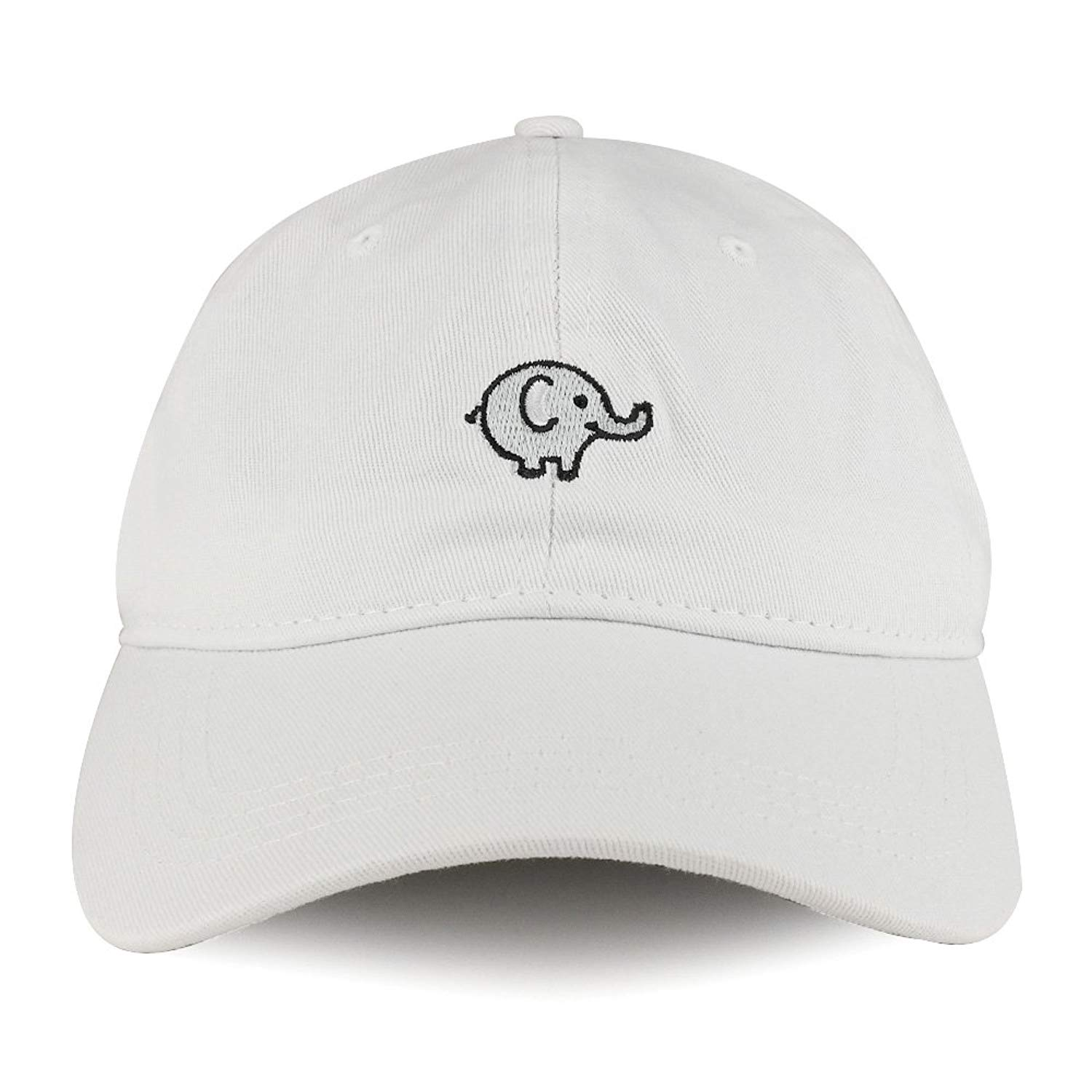Get Quotations · Trendy Apparel Shop Baby Elephant Emoticon Design Embroidered  Cotton Unstructured Dad Hat 8a5e61ec826d