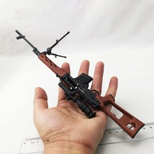 1 6 Soldier Figure Accessory Removable Metal SVD Sniper Rifle Gun Model For Military 12 Action