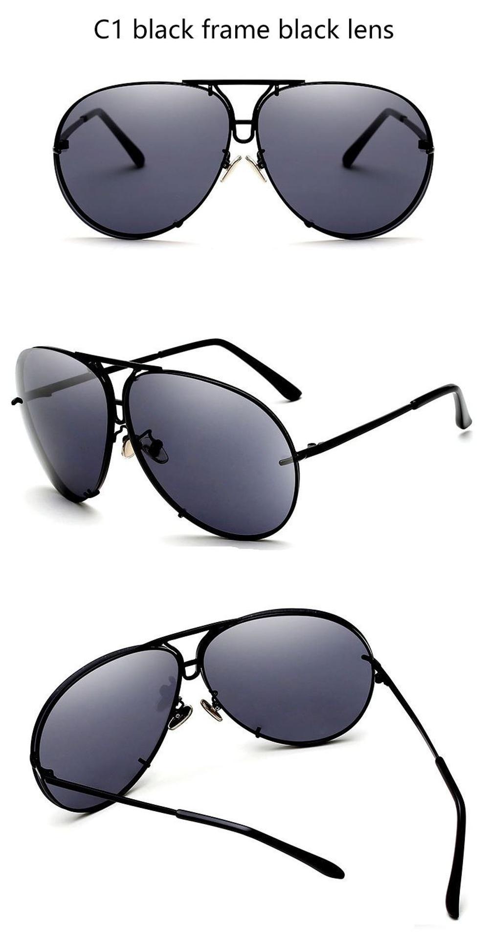 0bdca42c2c 2018 Big brand design sunglasses shades mirror Sun Glasses women female  eyewear sunglasses UV400