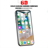 6d tempered glass in screen protector for ix xr xs max 5d full screen protector for i8plus curved full cover i7 6plus i6