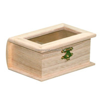 Good quality home rectangular wooden sewing box