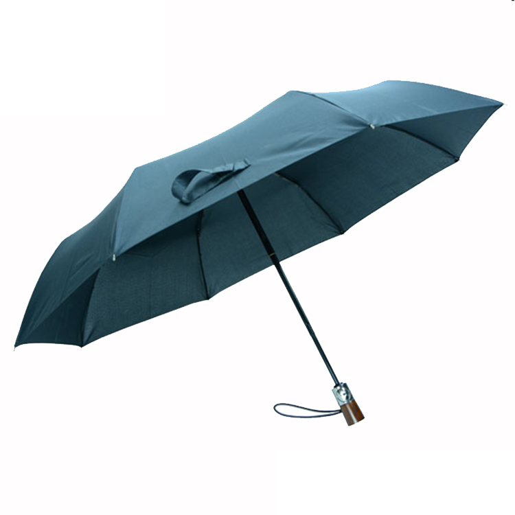 Good quality folding umbrella with wood handle