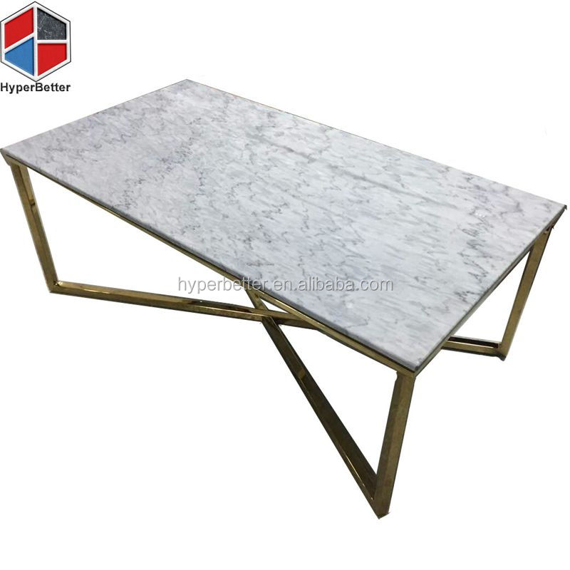 2018 New rectangle living room marble tea table