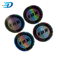 Custom printing 3D laser cut hologram anticounterfeiting sticker label sticker paper a4