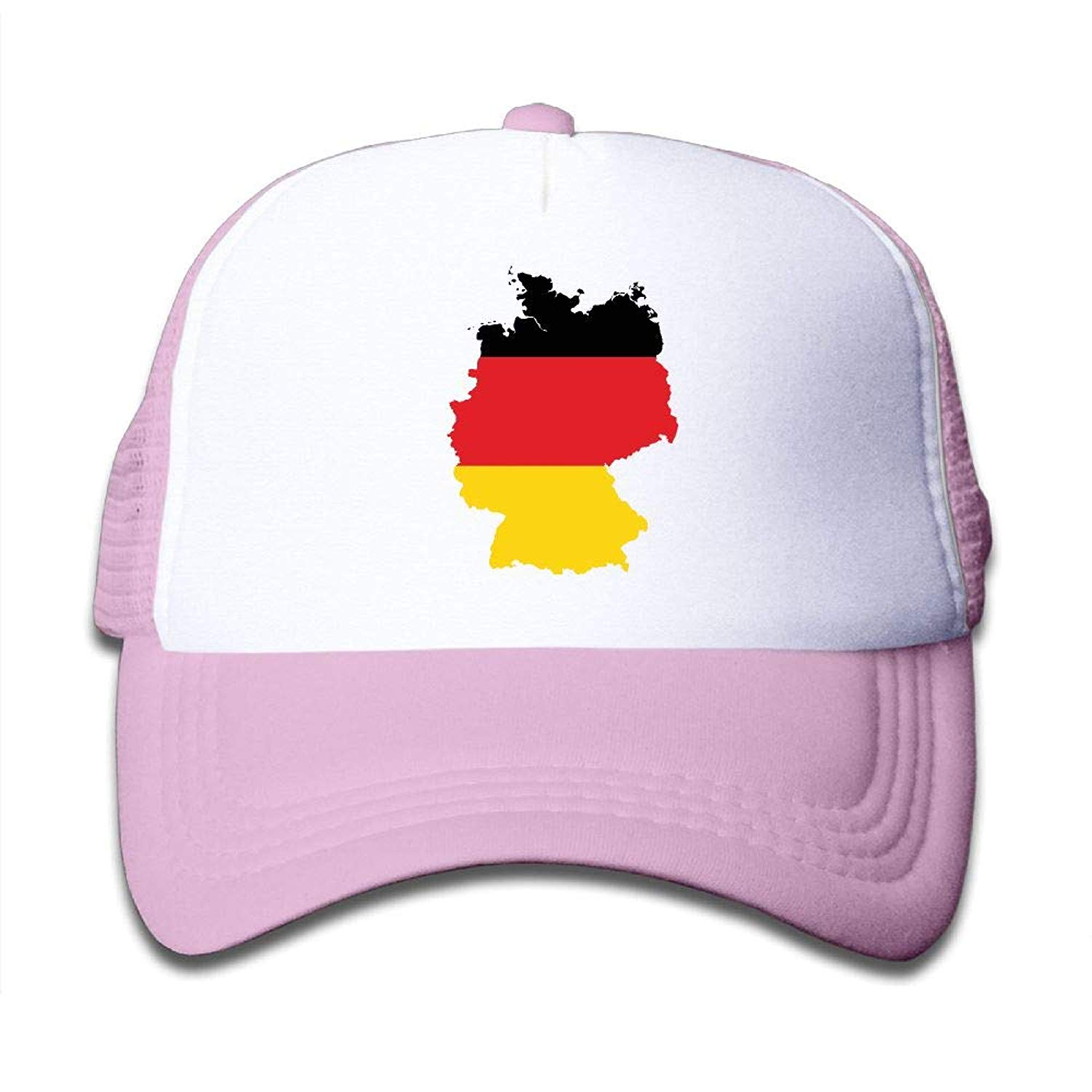 36816eb5cf1 Get Quotations · BOYGIRL-CAP German Flag Map Kids Toddler Boys Girls  Adjustable Mesh Cap Hip Hop Caps