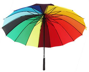 Rainbow long handle umbrella advertising umbrella acceptance print logo