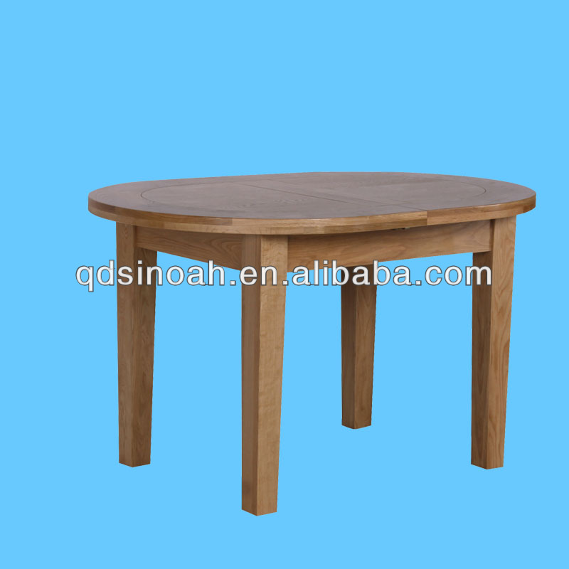 903 Range Large-End Extension Table/Oak Wood Round Dining Table